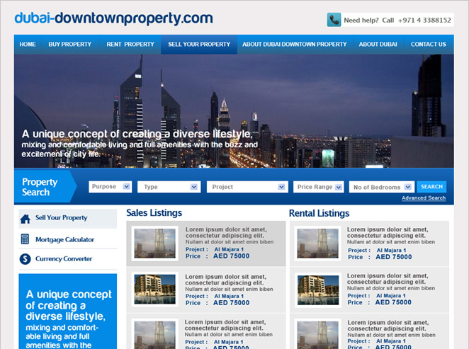 Dubai-Down Town Property
