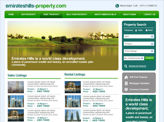 Emirates Hills Properties