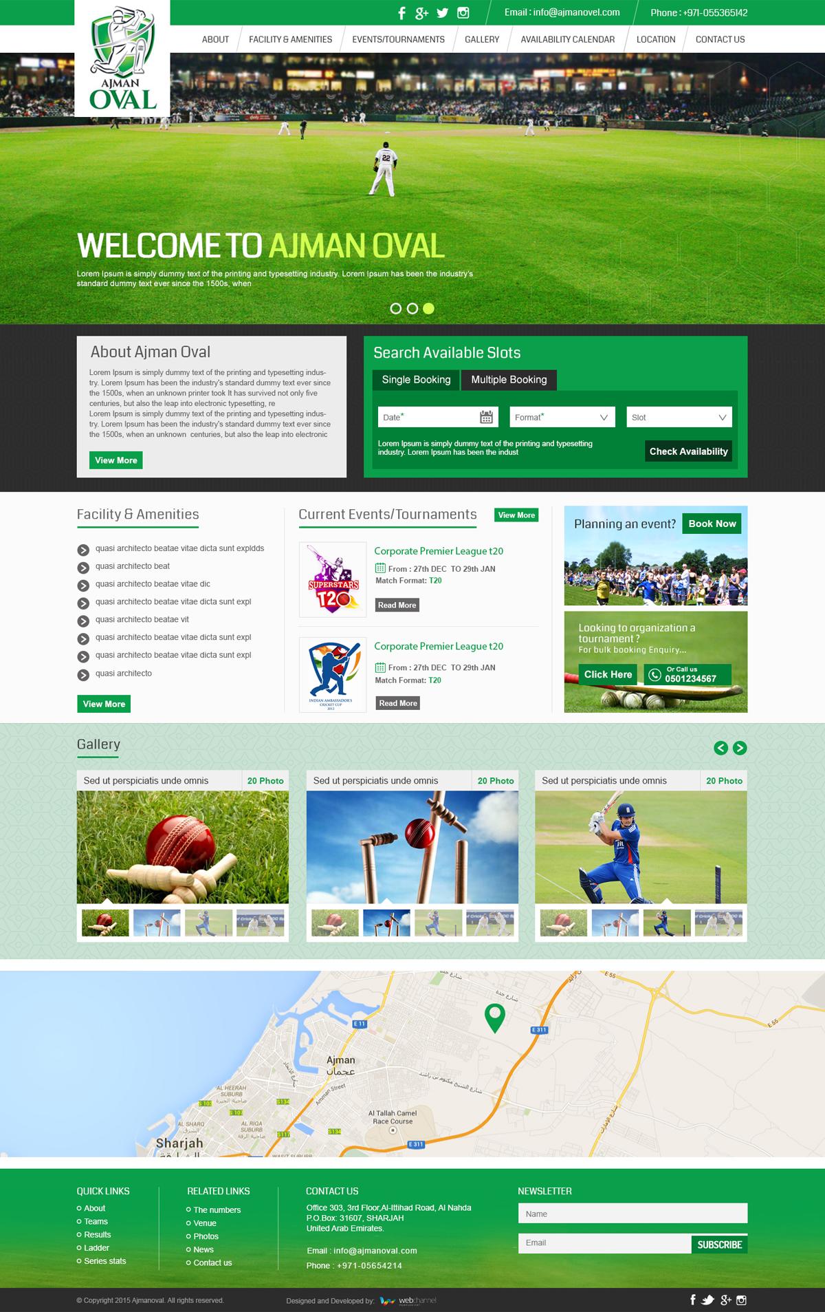 Ajman Ovel Home Page