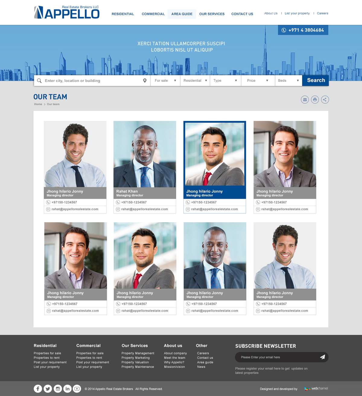 Appello Real Estate Website Design and Development by Web